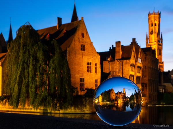 Bruges in the glass ball
