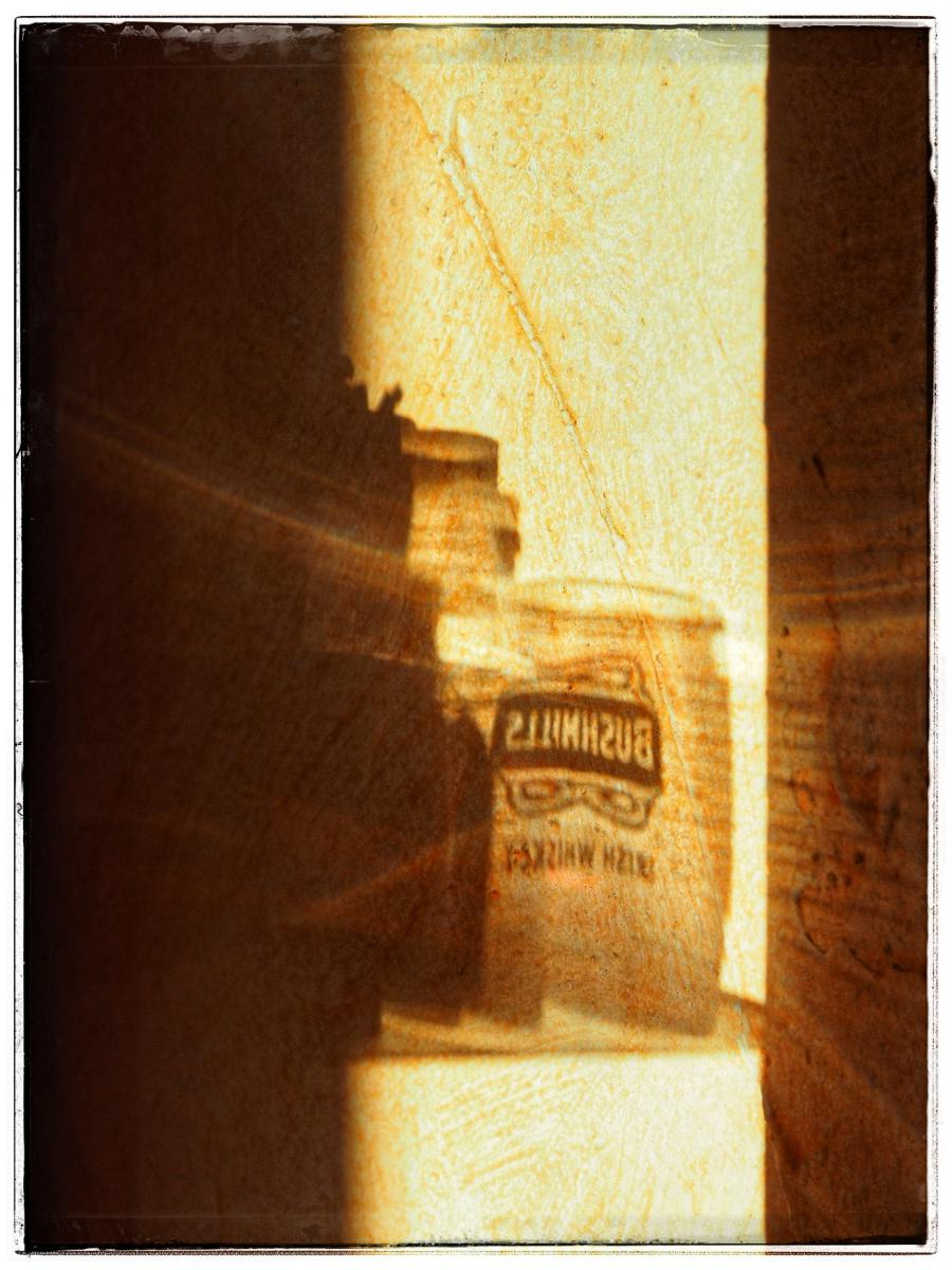 ...shadow on the wall...