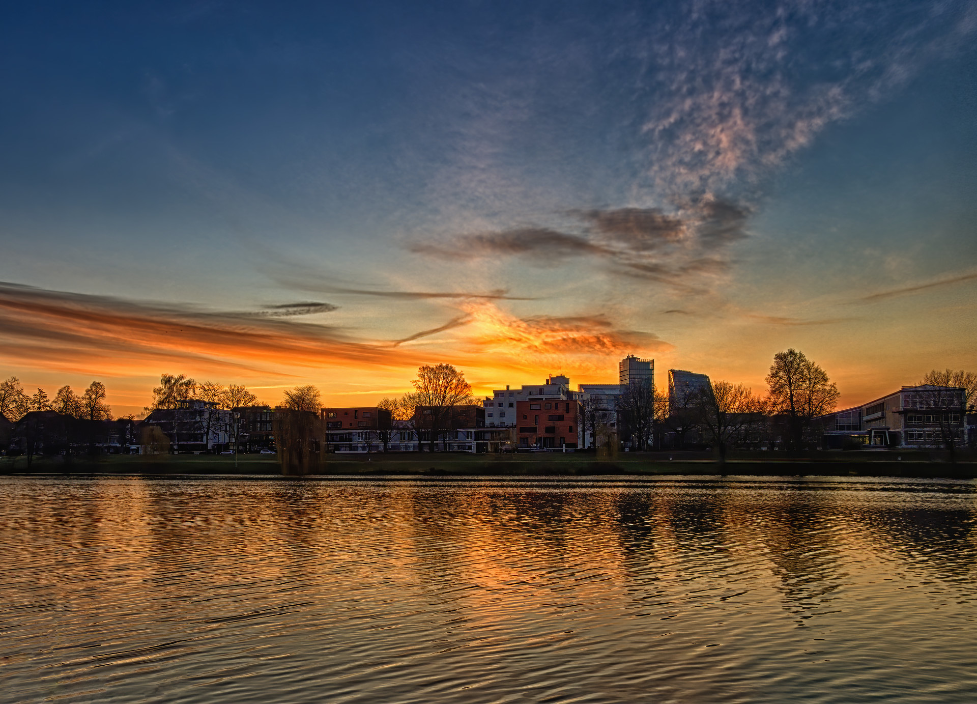Sonnenaufgang am Aasee_HDR
