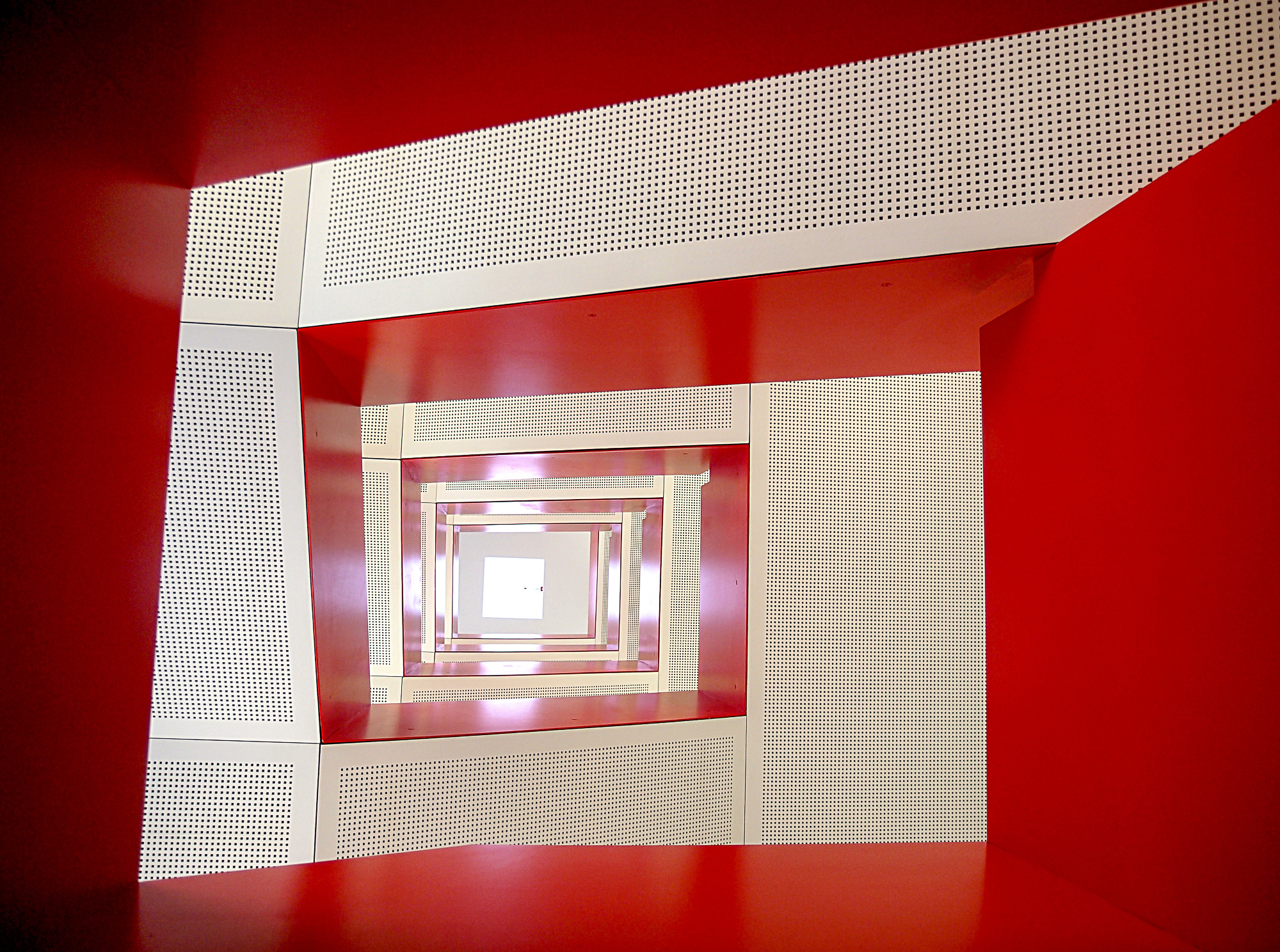 Staircase in red
